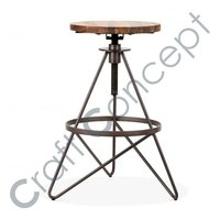 Revolving Seat Metal Bar Stool