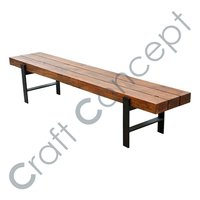 Wooden Bench Without Back