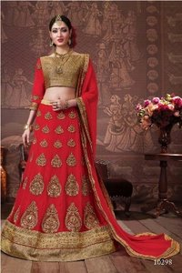 Fully Embroidery Designed Bridal Lehenga