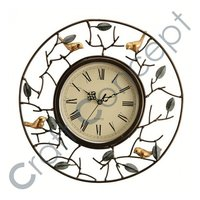 ROMAN METAL WHITE WALL CLOCK