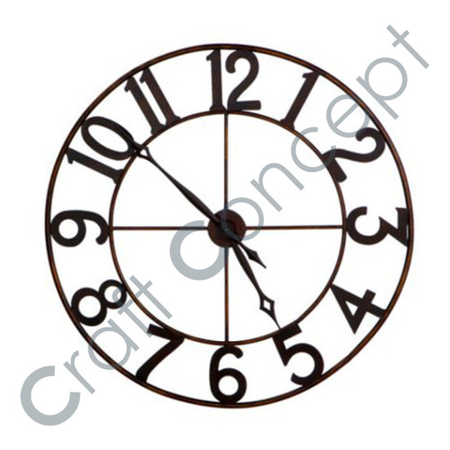 SIMPLE LOOK METAL WALL CLOCK