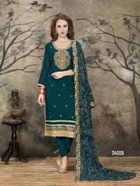 Green Designer Churidar Salwar Kameez