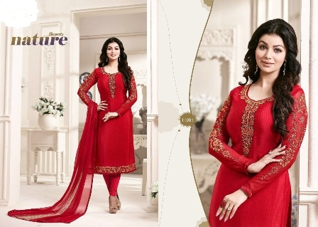 Bollywood Replica Red Churidar Suit