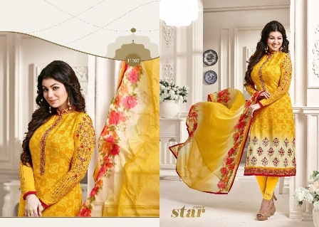 Bollywood Designed Yellow Churidar Suit