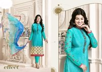 Brllywood replica Light Blue Designed Churidar Suit