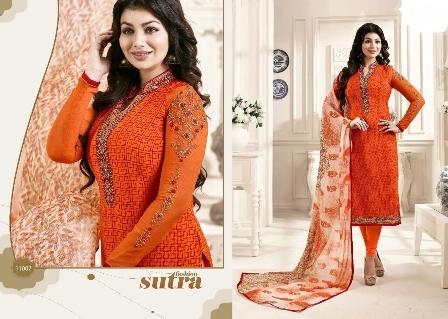 Bollywood Replica Orange Churidar Suit