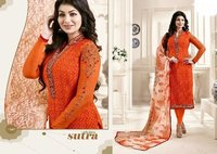 Bollywood Replica Orange Churidar Suit