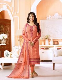 Bollywood Replica Embroidery Designed Churidar Suit