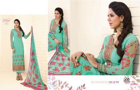 hand Work Designer Churidar Suit