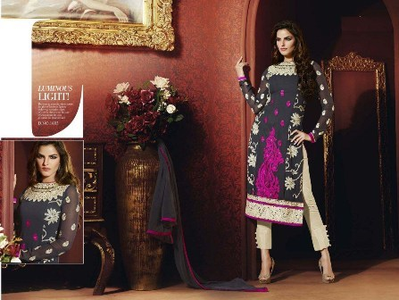 Black Neck Designed Churidar Suit