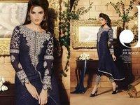 Black Embroidery Designed Churidar Salwar Suit
