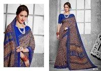 Blue Printed Daily Wear Saree