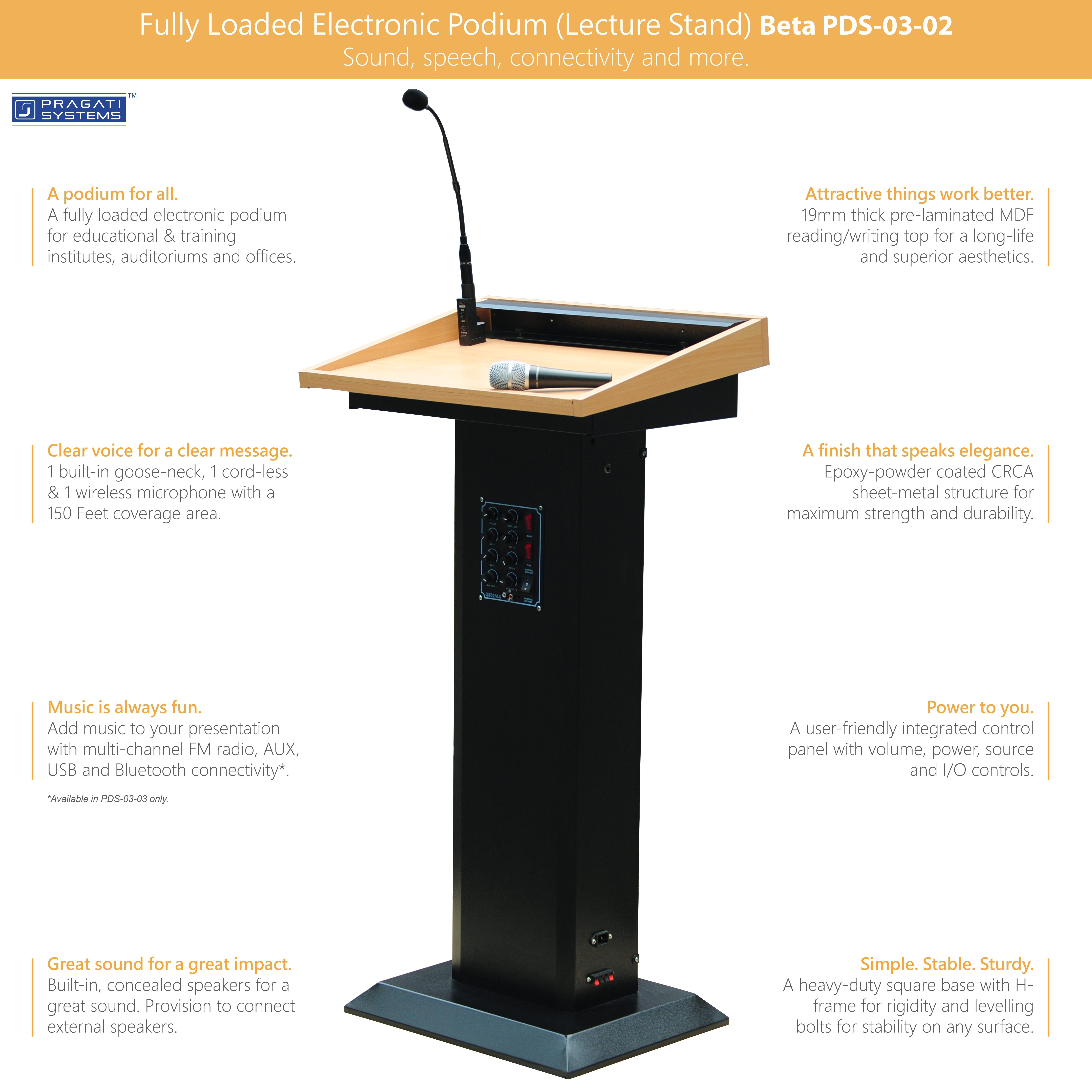Fully Loaded Digital Podium (Lecture Stand) Manufacturer, Supplier