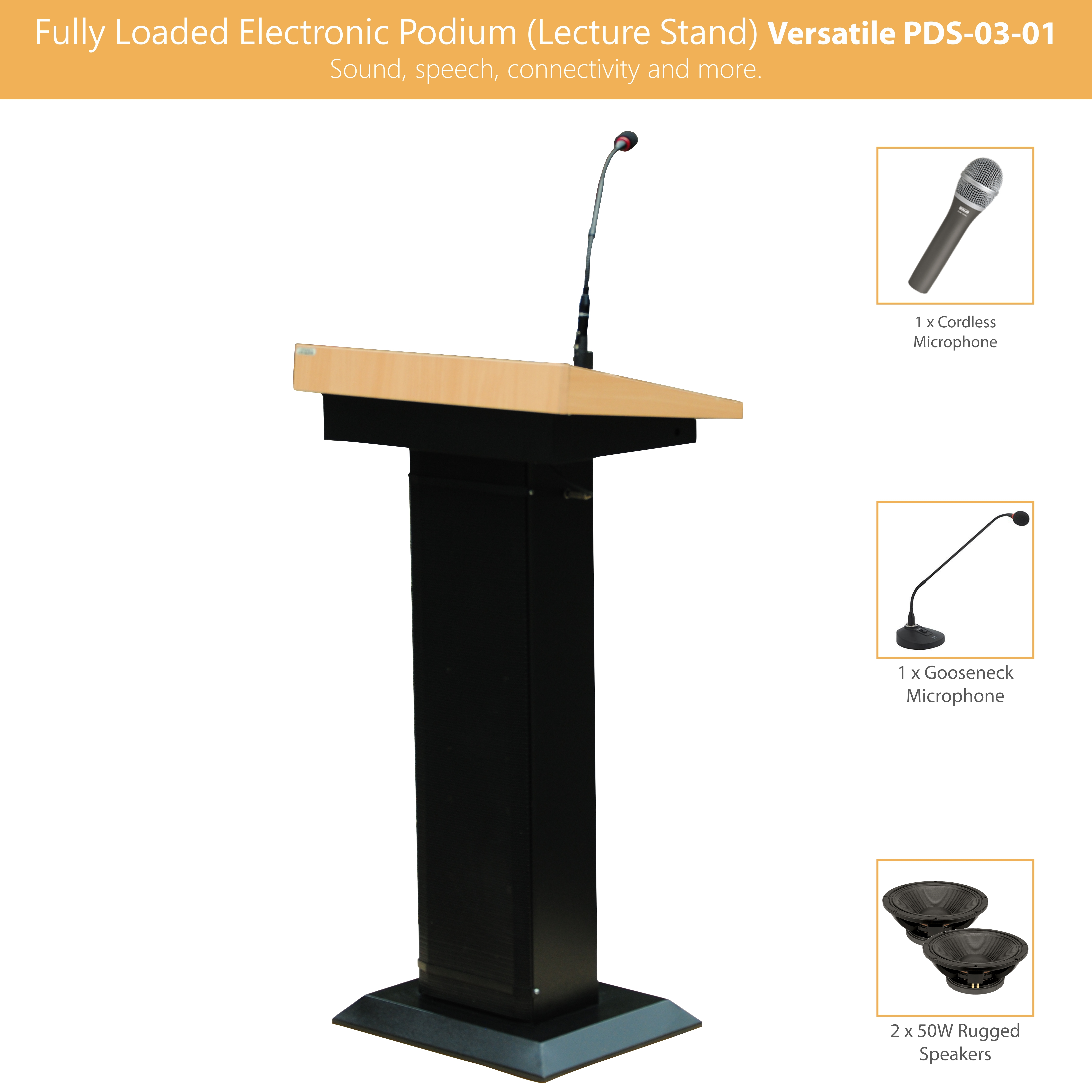 Fully Loaded Electronic Podium (Lecture Stand)