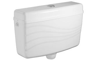 Centre Push Toilet Flushing Cistern