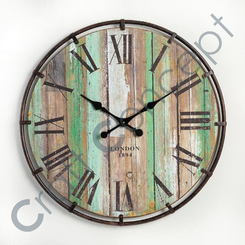 Roman Reclaim Wood Wall Clock