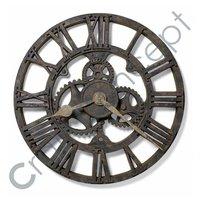 Roman Heavy Metal White Wall Clock