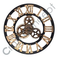 ROMAN HEAVY METAL WHITE WALL CLOCK