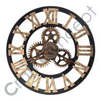 罗马重金属的白色壁钟
