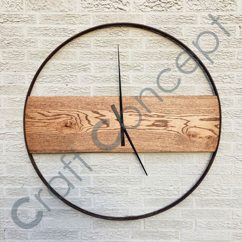 Roman Metal/ Wood White Wall Clock