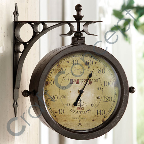 Side Hanging Wall Clock