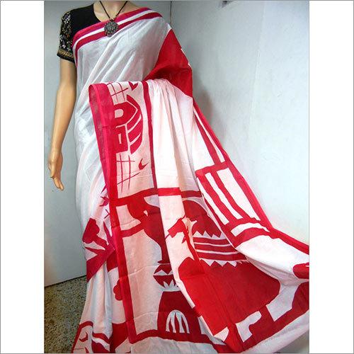 Cotton Painting Saree