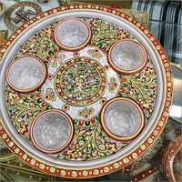 Marble Pooja Aarti Thali