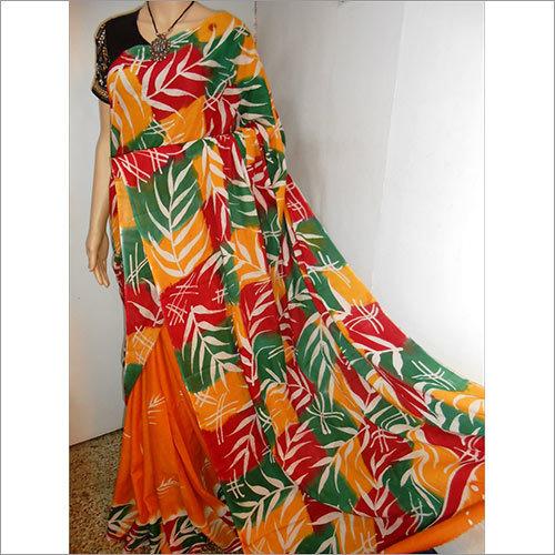 Batik Malmal Saree