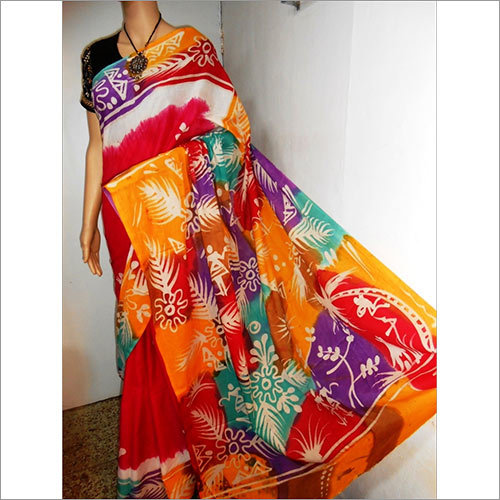 Batik Malmal Sarees