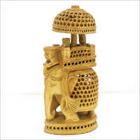 Wooden Carved Showpiece