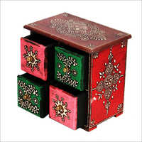 Hand Painted Wooden Spice Box