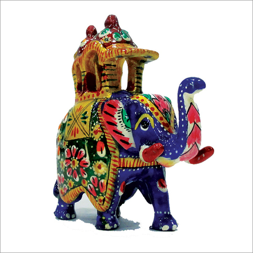 Hand Painted Elephant Statue