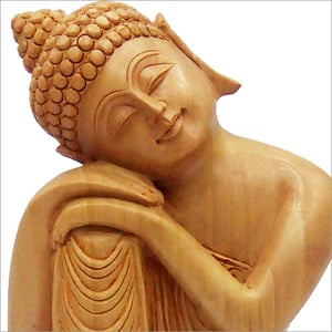 Wooden Carved Buddha Statue