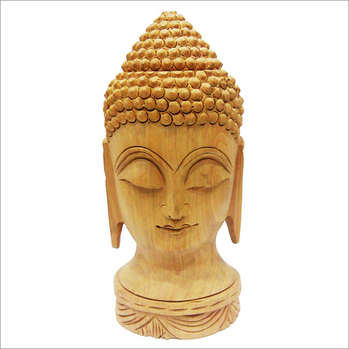 Wooden Carved Decorative Buddha Statue