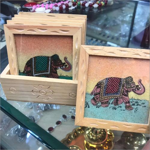 Elephant Painted Tea Coaster