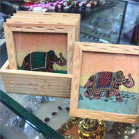 Elephant Painted Tea Coaster