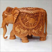 Hand Carved Decorative Elephant Statue