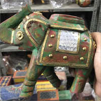 Hand Painted Vintage Elephant Statue