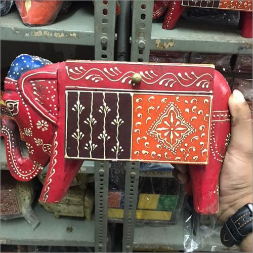 Hand Painted Decorative Elephant Box