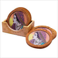 Wooden Painted Tea Coaster