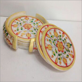 Decorative Marble Tea Coaster
