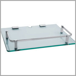 Glass Shelf Railing Basket