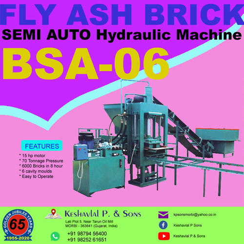 Semi Automatic Fly Ash Bricks Plant