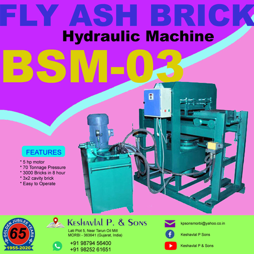 Semi Manual Fly Ash Bricks Machine