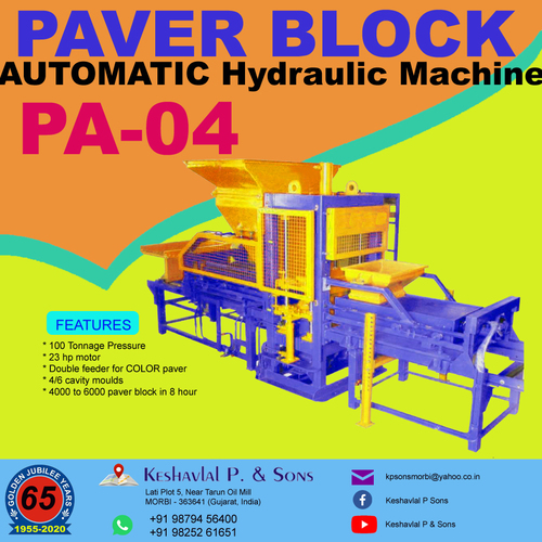 Automatic Paver Block Machine
