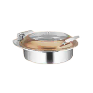 Round Hydraulic Glass Lid Chafing Dish