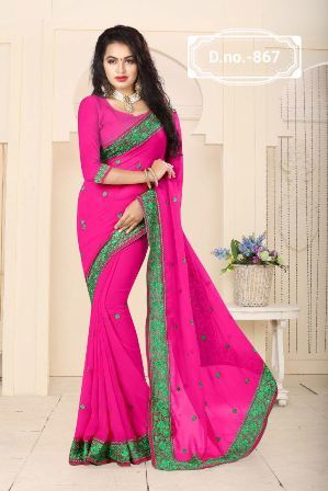 Pink Designer Saree For Party Wear