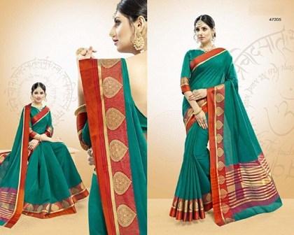 Double Coloured Designer Saree