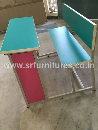 Colorful School Benches