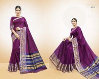 Purple Coloured Saree With Shade